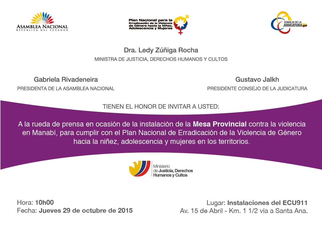 Invitación a Rueda de Prensa