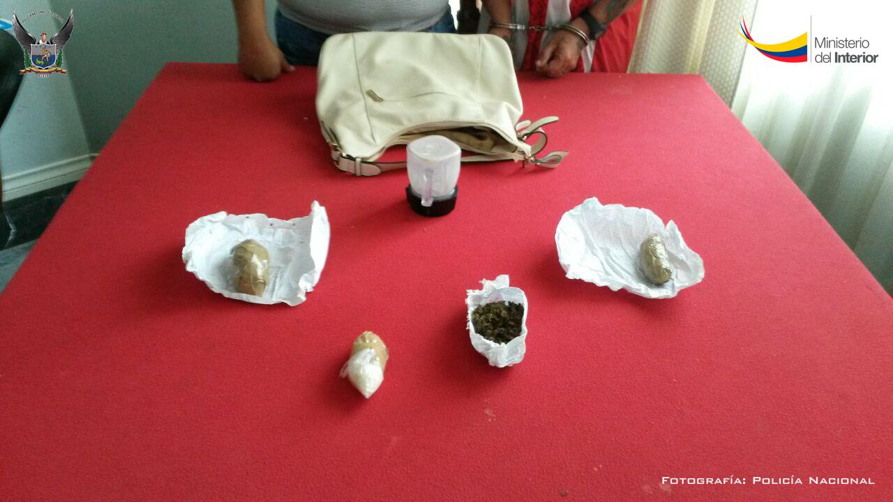 Droga aprehendida en el sector del Callejón Las Palmas de Portoviejo
