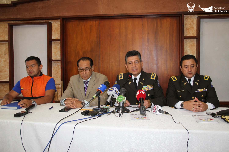 La Policía Nacional informó sobre la seguridad que brindará durante el feriado de carnaval, en Manabí