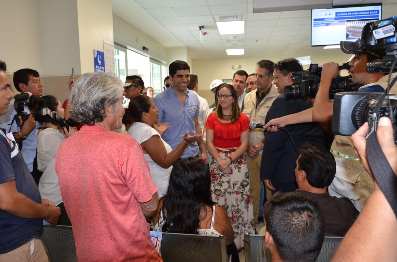 MÁS DE 1 MILLÓN 960 MIL HABITANTES DE MANABÍ SE BENEFICIAN DEL HOSPITAL VERDI CEVALLOS EN PORTOVIEJO
