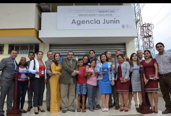 AGENCIA DE REGISTRO CIVIL INICIÓ ATENCIÓN EN EL CANTÓN JUNÍN